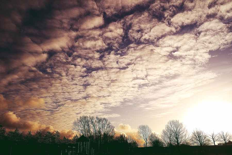 backlit clouds dark dawn